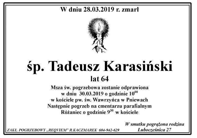 Żyli wśród nas – Tadeusz Karasiński