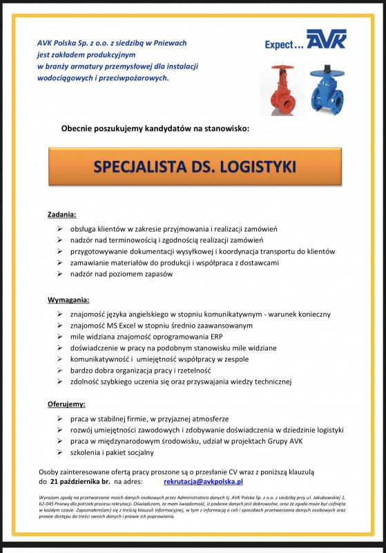 Praca dla logistyka