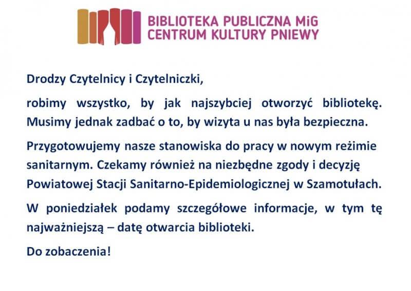 Komunikat Biblioteki